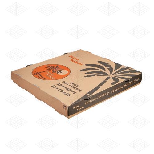 جعبه پیتزا دوتکه مقوایی