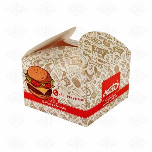 جعبه همبرگر درب هلالی