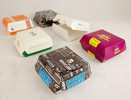 جعبه همبرگر با طراحی های مختلف