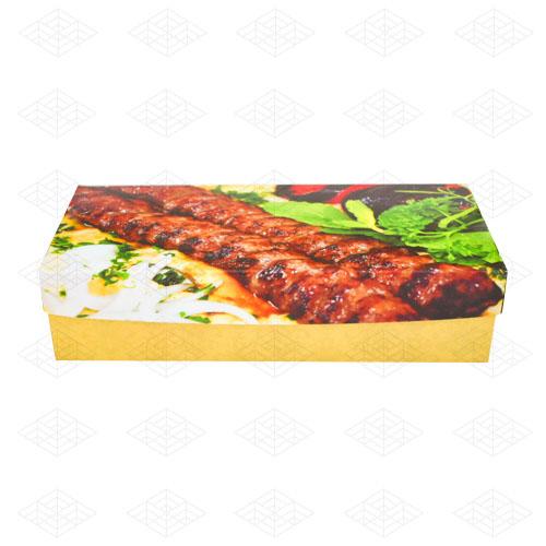 جعبه غذای بیرون بر سفره ای مقوایی