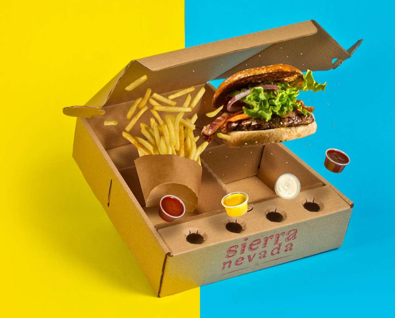 جعبه همبرگر خلاقانه