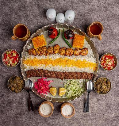 غذای رستوران مرشد