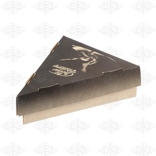 جعبه کیک مثلثی مقوایی دوتکه